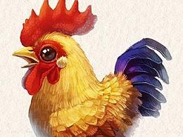(娃他妈)手绘萌宠鸡