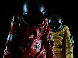 骷髅宇航员 玩具摄影