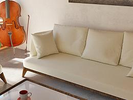 布艺沙发,一分靠渲染,九分靠PS