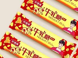 儿童食品包装设计 牛轧糖包装设计