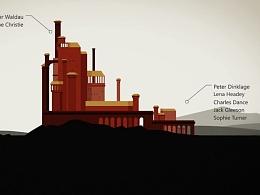 系列动画 - 权力与皇冠的游戏 - 法国高等设计学院(ECV)