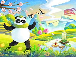 竹叶青 合作插图四枚 by 春和绘