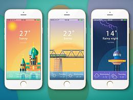 哈尔滨  天气界面设计