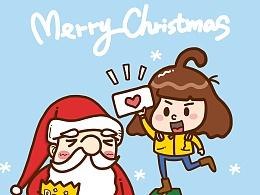 糖小卷儿圣诞超萌头像九枚入
