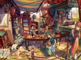 熟夏里的家庭聚餐