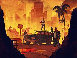 《终结者:黑暗命运》(暂译) — 插画海报