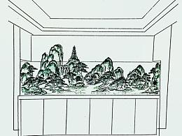 山水景观设计效果图