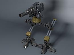 c4d建模练习:机器人