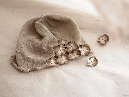 幽幽蝴蝶兰棉线帽*嘉设计