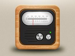 临摹练习,写实拟物收音机图标