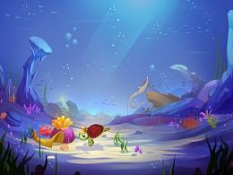 海底小乌龟