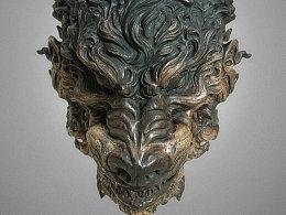 木制狼首面具