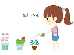 <清晨の时光>美柚app主题设计-文艺清新