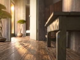 初冬午后阳光--木地板篇