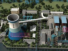 发电厂工艺流程三维动画制作