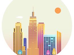来一波城市插画
