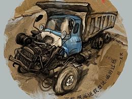 画我想画原创系列插画--车