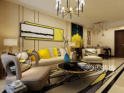 西雅图两室两厅89平现代简约装修效果图设计