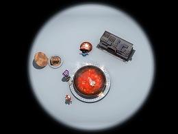 餐桌投影创意动画