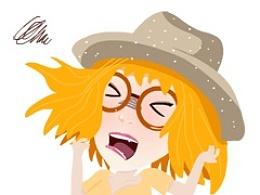 【接单】表情外包-戴帽子的女孩
