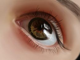 手绘眼睛临摹图