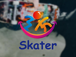 skater 滑板培训机构标识提案