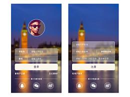 UI界面设计-登录注册(1p)