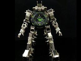 机械党 2017 新品 全金属 机器人 智能电子运动手表 可放置手表