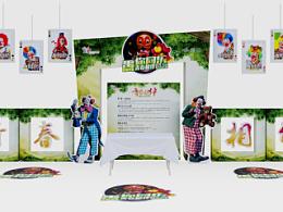 造型 KT板 布局 愚人节 活动 布置 案例 节日 商场 小丑 青春 地贴 背景 清新