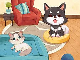 插画设计:小动物