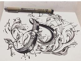 【字体设计】手绘英文花体临摹练习