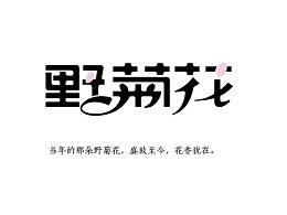 字体设计-野菊花