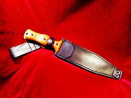 纯手工制作巴斯轻骑兵户外战术直刀皮鞘