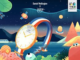 林P酱X Daniel Wellington—品牌插画
