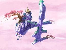 重新发完整版(三生三世)百雀羚三生花商业插画
