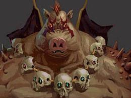 游戏原画-大猪怪兽设定
