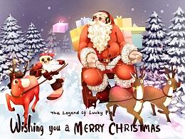 《幸运派传说》圣诞贺卡