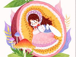 原创插画《甜甜水果味》系列三