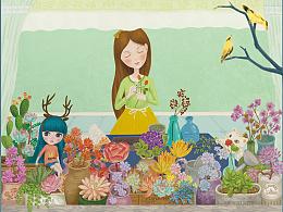 立体贺卡-秘密花园