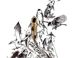 涂鸦《飞鸟与鱼》20150203