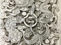 《四大神兽》中国传统神兽元素扑克牌设计从一张纸开始了