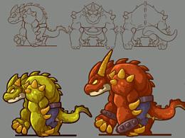 之前的一些设计,皇城保卫战风格