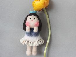 囍囍的羊毛毡 之 甜甜圈少女