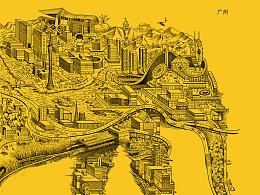 广州手绘地图