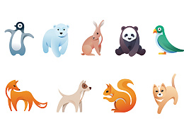 动物图标练习作品