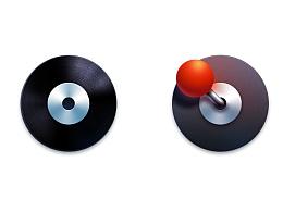 图标设计-CD和游戏摇杆(附源文件)