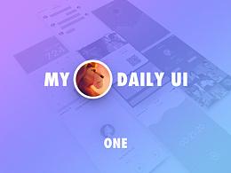 我的Daily UI 第一期