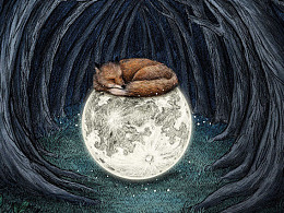 《晚安》系列插画