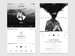 [黑白画映]- Music App界面
