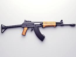 写实图标-临摹的AK-47自动步枪